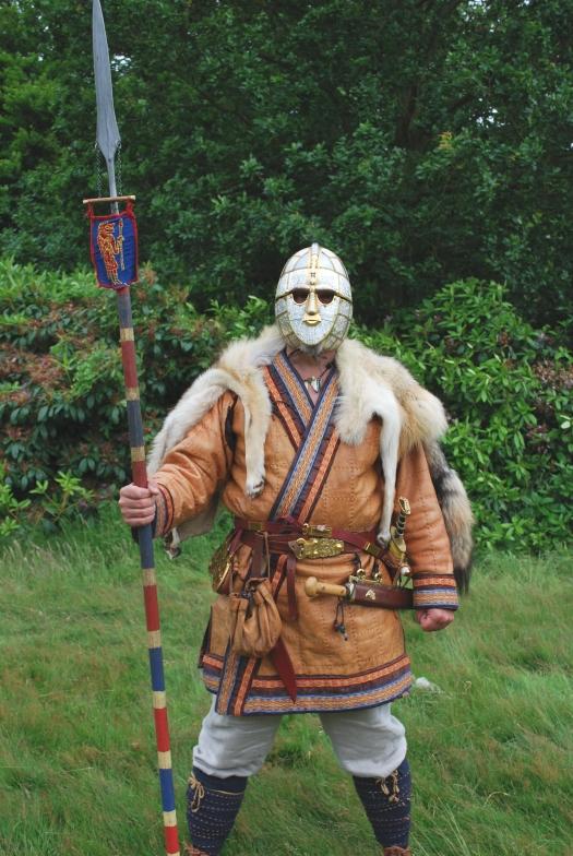 Sword-harness ornaments from Sutton Hoo (gold, garnet ...